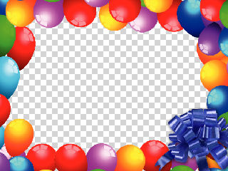download 6 birthday balloon frame